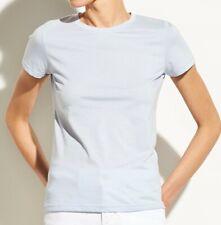 New Vince Essential Pima Cotton Crew Neck Basic Tee Top T-shirt Blue M Medium