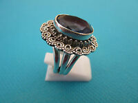 925 Sterling Silver Ring With Natural Iolite Size Q 1/2, US 8.25 (rg2636)