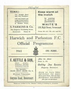 1934 East Anglian Cup Semi Final - HARWICH & PARKESTON v. CHELMSFORD