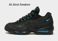 """Nike Air Max 95 """"Black Blue"""" Men's Trainers Limited Stock All Sizes"""