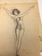 Vintage Art Drawings/Millie Gillette 1931 Originals. 2 Framed, 20 Loose