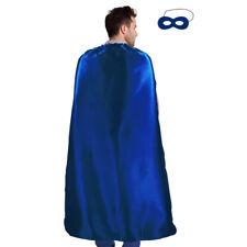 Men's & Women's Superhero Fancy Dress Costume Cape & Mask (Sapphire)