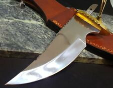 Knife Making mirror polished 6 3/8 in. Blade Blank Hidden tang File Work
