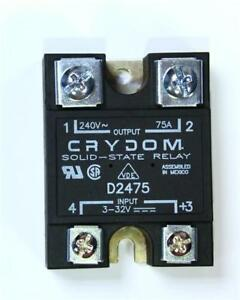 CRYDOM D2475 Solid State Relay, 250V 75A, Zero Voltage Switching 3-32V DC Input