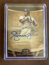 2019 Topps Tier One Andruw Jones Blue Ink Auto Signed 272/299 Braves