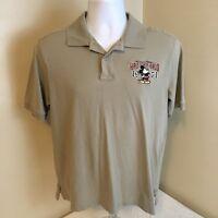 Walt Disney World Disneyland Mens Polo Shirt Medium Embroidered Mickey Logo FS!