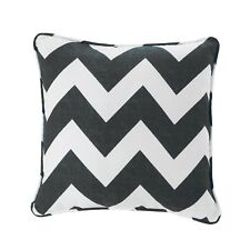 """Luxury Chevron 100% Cotton Zig Zag 17"""" x 17"""" Square Filled Scatter Cushion Cover"""
