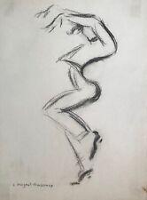 Lucienne Pageot-Rousseaux - Dessin original - Fusain - Antonio