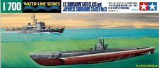 Tamiya 31903 1/700 Model Kit U.S.S Submarine Gato Class & Japanese Chaser No.13