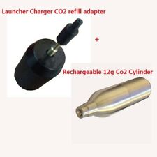 Reusable/Rechargeable 12g Co2 Cylinder +Launcher Charger CO2 refill adapter set