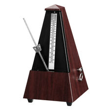Retro Mechanical Metronome with Audible Bell Chime for Piano Guitar Bass Violin
