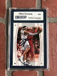 Allen Iverson autographed signed Card NBA Philadelphia 76ers Steiner Sports