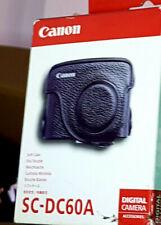 Canon G10 SC- DC60A Genuine Leather Soft Case and Shoulder Strap ,Black Color -