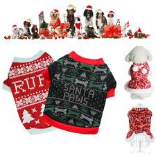 Red Dogs Xmas Skirt Sweater Costume Apparel Bowknot Plush T-shirt Pet Christmas