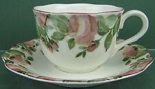 Nikko China, Precious Pattern, Flat Cup & Saucer Set - [0116-0043]