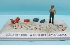 M.M.B 035 / KIT RESINE / PABLO & PETIT OUTILLAGE GARAGE 1/43