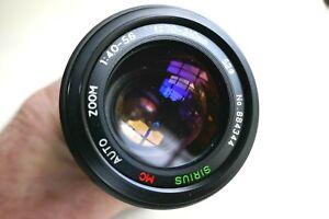Pentax PKA fit 70-210mm/f4-5.6 macro SIRIUS MC Zoom lens