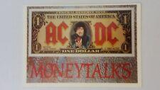 AC DC AC/DC moneytalks rock hardrock music postcard POST CARD