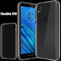 For Motorola Moto E6 Crystal Clear TPU Shockproof Hybrid Slim Phone Case Cover