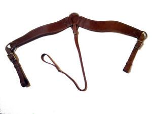 Westernvorderzeug Pferde Vorderzeug Western schlicht Leder Hellbraun