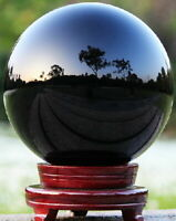 40-100mm Natural Black Obsidian Sphere Large Crystal Ball Healing Stone