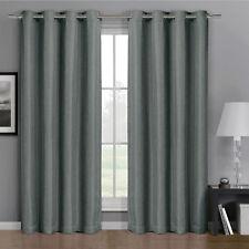 Gulfport Grommet Faux Linen Blackout Weave Window Curtains Drape Single Panel