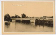 1930s SPARTA WI old Walrath Bridge postcard