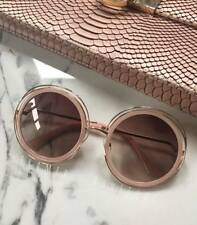 GOLD Nude OVERSIZED Round SUNGLASSES ** Luxe Quality ** BRITISH COMPANY .20