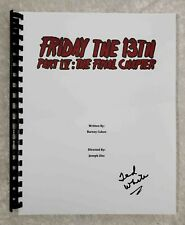 """Ted White """"Jason"""" Autograph Signed """"Friday The 13th Part IV """" Movie Script 1984"""