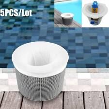 5pcs/Lot Swimming Pool Basket Skimmer Box Filter Socks Savers Mesh Screen Liner