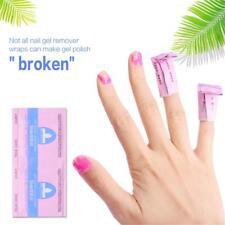 10pcs Foil Nail Art Soak Off Acetone UV Gel Wraps Nail Polish Remover