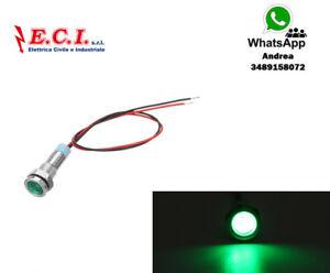 Spy LED Indicator Built – IN 12V 0 1/4in IN Metal Green