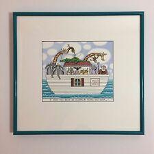 Noah's Ark Art - If Noah Had Been An Aluminum Siding Salesman - SIGNED - 1996