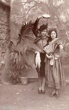 BK241 Carte Photo vintage card RPPC Femme costume dans flamenco  décor plante