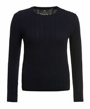 Luxe Mini Cable Knit Size 10 Rich Navy Jumper Top Superdry