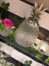 Glass & Silver Pineapple Ice Box Bucket