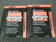 2001 Toyota Tundra Pickup Truck Shop Service Repair Manual 2 Vol Set Limited SR5