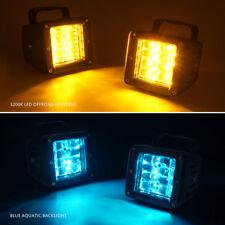 "Xprite 3"" Philips LED Pods 24W Amber Cube Fog Spot Light Blue Aquatic Backlight"