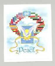 Palau #292 Fairy Tern, Birds, Flags, UN 1v S/S Imperf Proof on Card