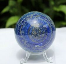 1) lapis lazuli Sphere Natural Blue Gemstone Crystal Pyrite Afghanistan 3 inch