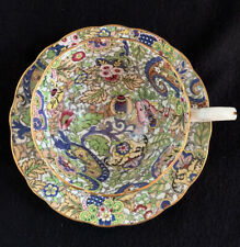 Vintage Radfords England China Scalloped Teacup & Saucer Blue Paisley Chintz