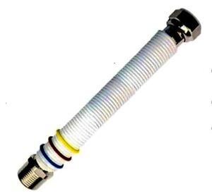 """TUBO ESTENSIBILE IN ACCIAIO INOX 316L X ACQUA  E GAS 1/2""""-3/4"""" MF NORMA UNI11353"""