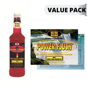 DETOX PACK: Ultra Klean 750ml Detox Drink + Power Flush Capsules (Exotic Punch)