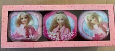 Barbie Three Scented Candles In Decorative Tins