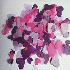 EG_ 1000Pcs Biodegradable Rainbow Heart Paper Confetti Wedding Party Decor Sanwo