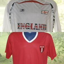 Lot of 2 Carbon or Drako England Soccer Jersey Sz XXL or One Size White Red