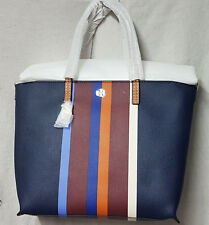 BID Tory Burch Bag 31662 Multi Center Stripe Kerrington Stripe Tote Agsbeagle