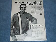 1972 Polaroid Cool-Ray Sunglasses Vintage Ad With Richard Petty Jacket Offer