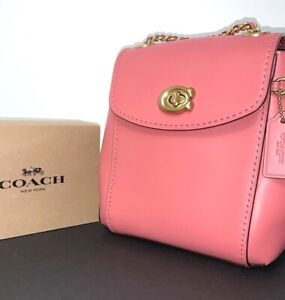 Coach Parker Mini 16 Convertible Brass/Orchid Backpack 52670