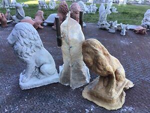 Homemade Latex/fiberglass Mold. Concrete Lion